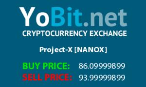 Project-X (NANOX) — все о криптовалюте, курс и прогноз
