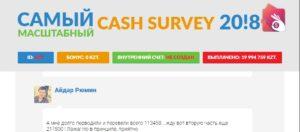 Реальный отзыв о Cash Survey 2018