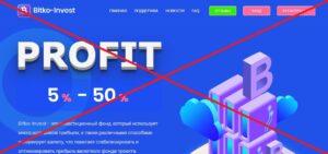 Реальный отзыв о Bitko Invest (bitko-invest.ru)