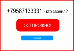 Кто звонил с номера +79587133331 (89587133331)?